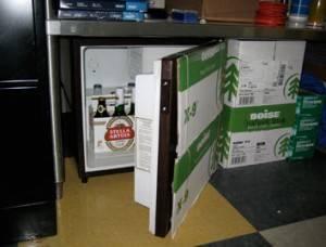Потайной холодильник