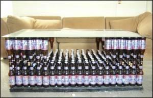 Стол из пива