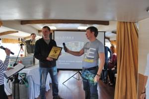 Награждение победителей: Эдуард Березин - 1 место в категории 1516