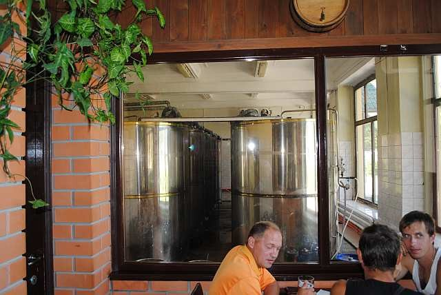 "Вид на танки дображивания пивоварни ""Дiановъ"""