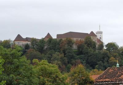 Любляна. Вид на замок.
