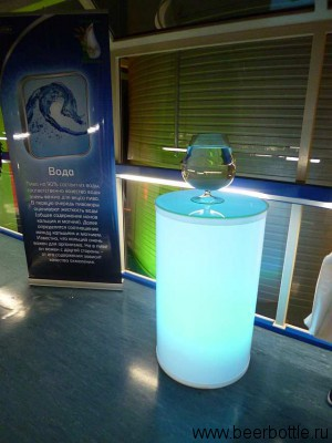 """Один из элементов - """"Вода"""". Подобные инсталляции были устроены на всём пути экскурсии."""