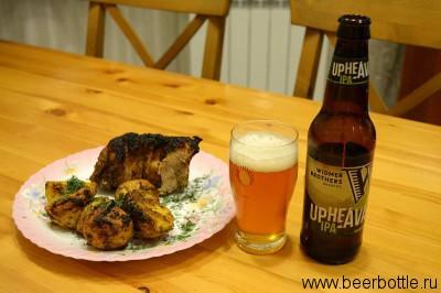 Американское пиво и рёбрышки