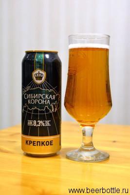 Пиво Сибирская корона крепкое