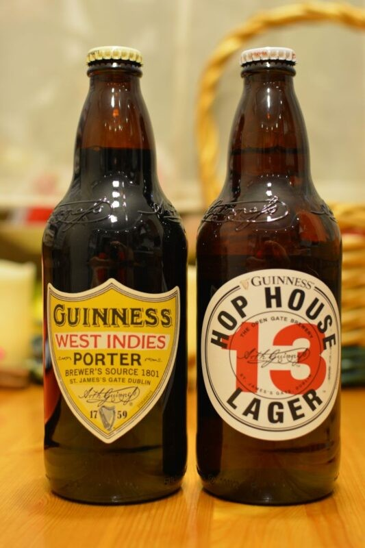 Пиво Guinness West Indies Porter и Hop House Lager