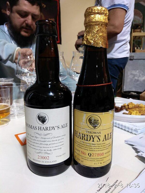 Пиво Thomas Hardy's 2007 и 2016 года