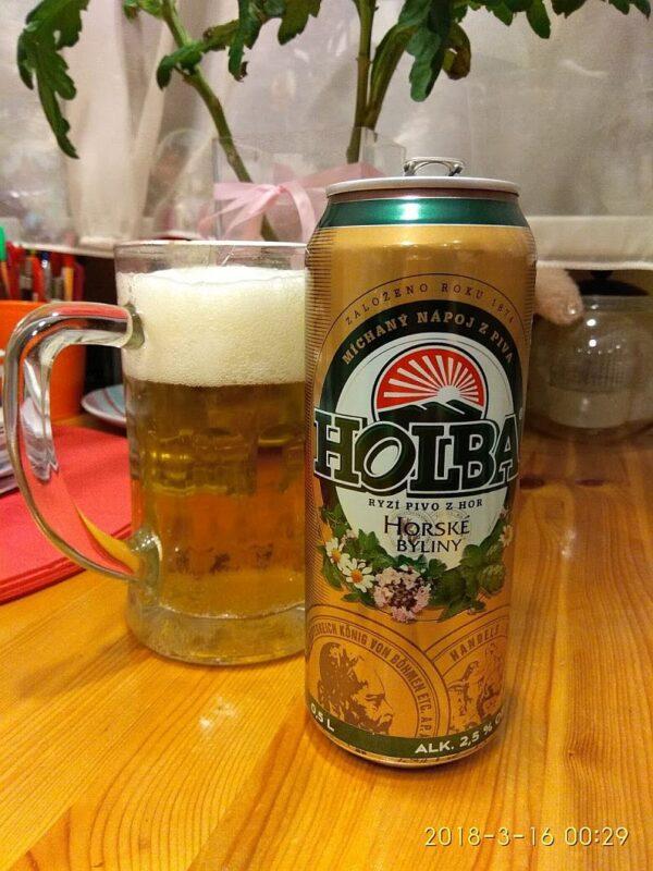 Пиво Holba Horské byliny