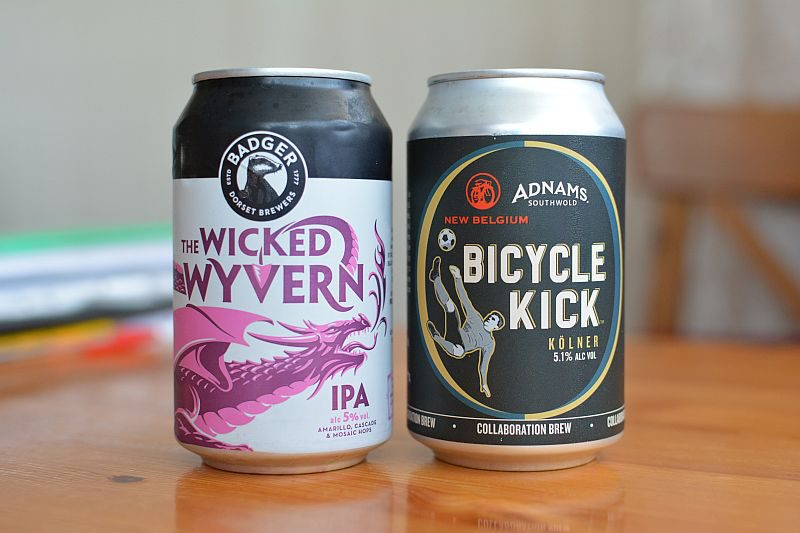 Пиво The Wicked Wyvern IPA и Bicycle Kick