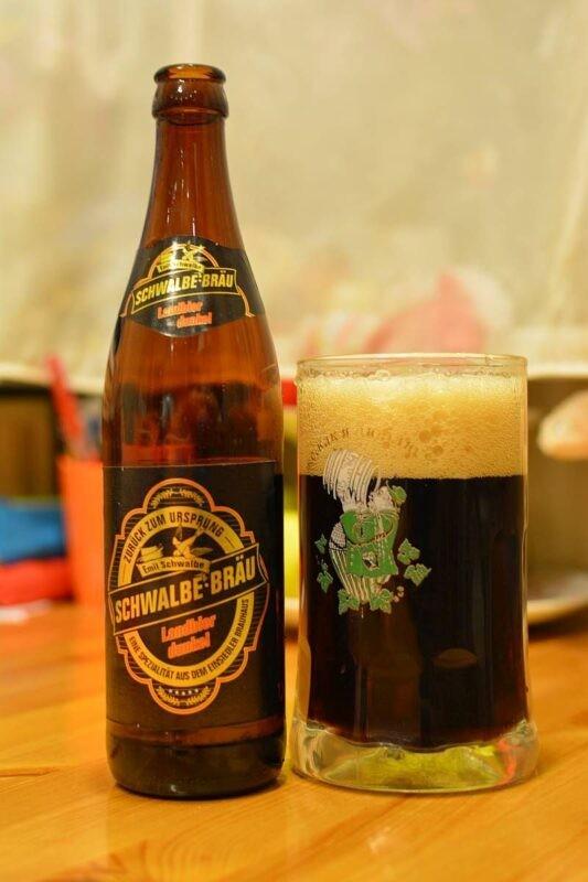 Пиво Schwalbe-Bräu Landbier Dunkel