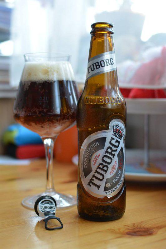 Пиво Tuborg Black 7.7 Израиль