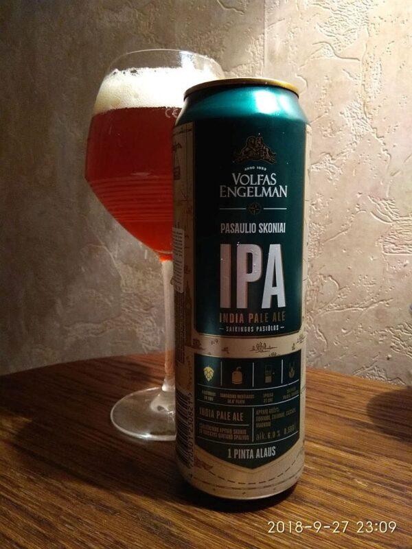 Пиво Volfas Engelman IPA
