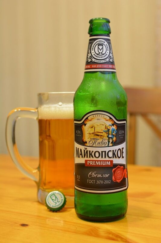Пиво Майкопское светлое Premium