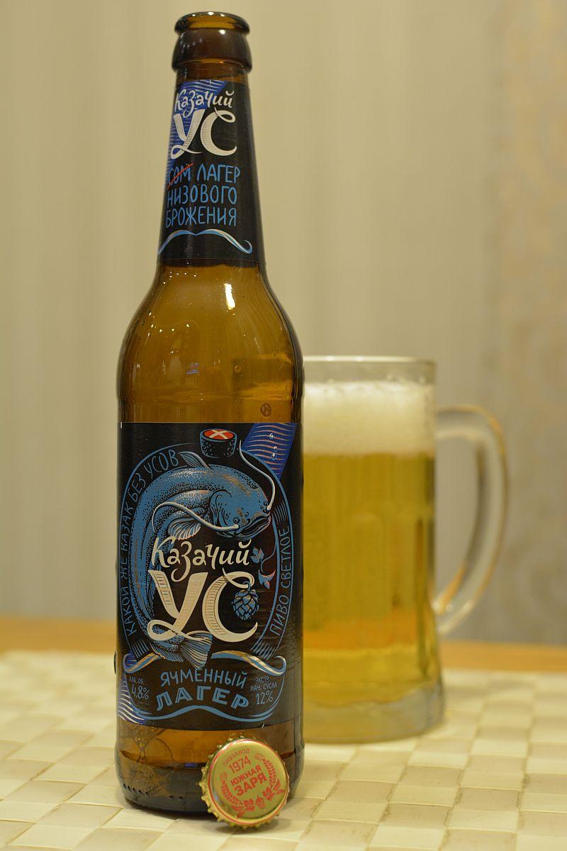 Пиво Казачий Ус (Ячменный Лагер)