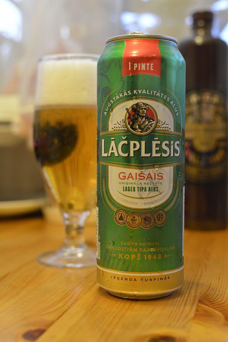 Пиво Lāčplēsis Gaišais
