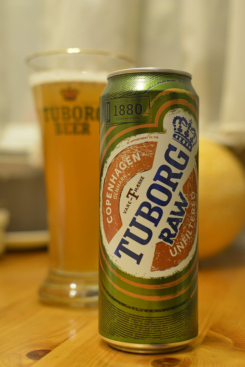 Пиво Tuborg RAW Unfiltered