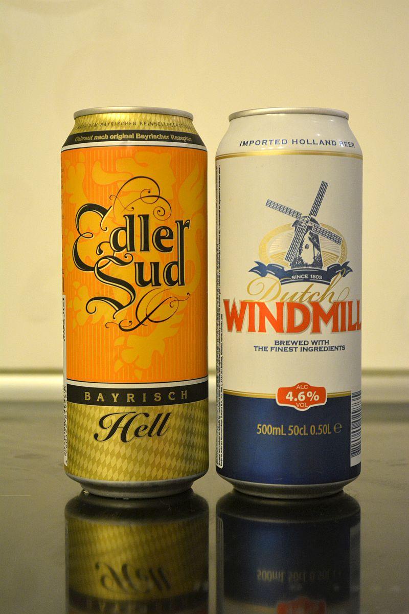 Пиво Edler Sud и Dutch Windmill