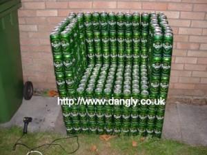 Кресло из пива