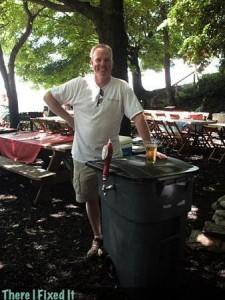 Пиво из мусорного бачка