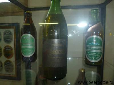 Первые бутылки Балтики