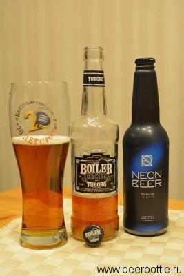 Пиво Tuborg Boiler Maker и Балтика Neon Beer