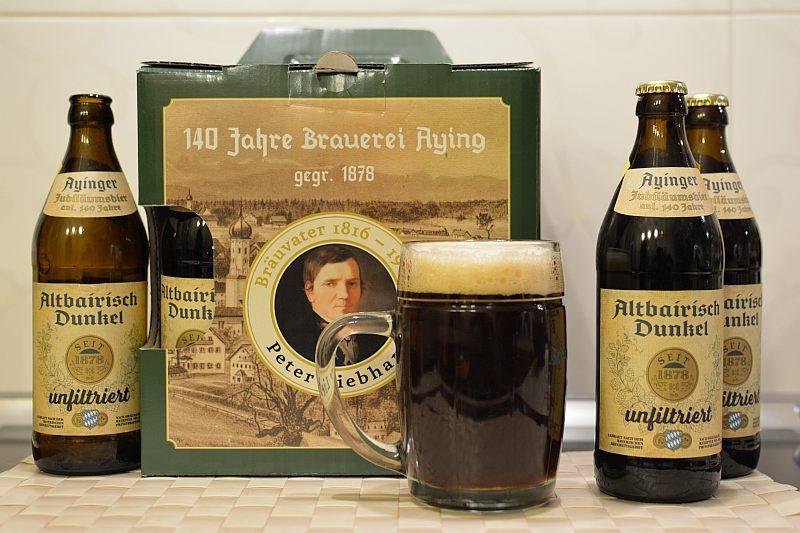 Пиво Ayinger Altbairisch Dunkel unfiltriert