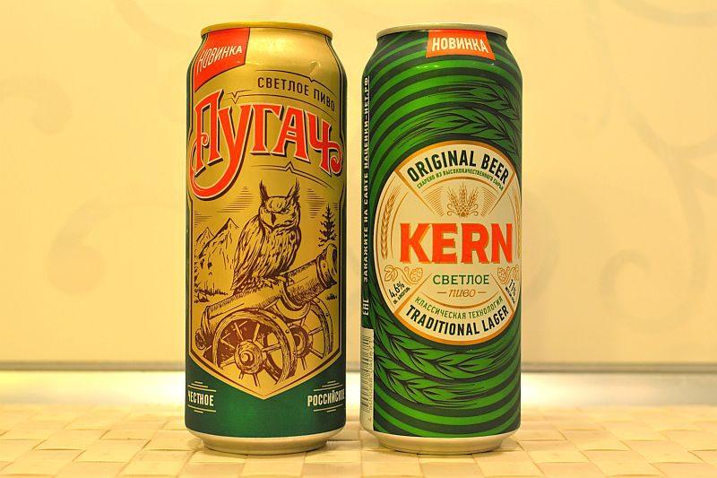 Пиво Очаково Пугач и Kern