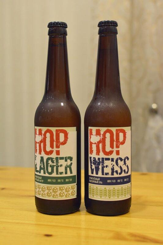 Пиво Василеостровское Hop Lager и Hop Weiss