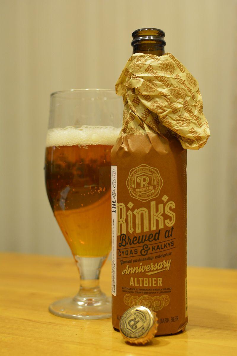 Литовское пиво Rink's Altbier