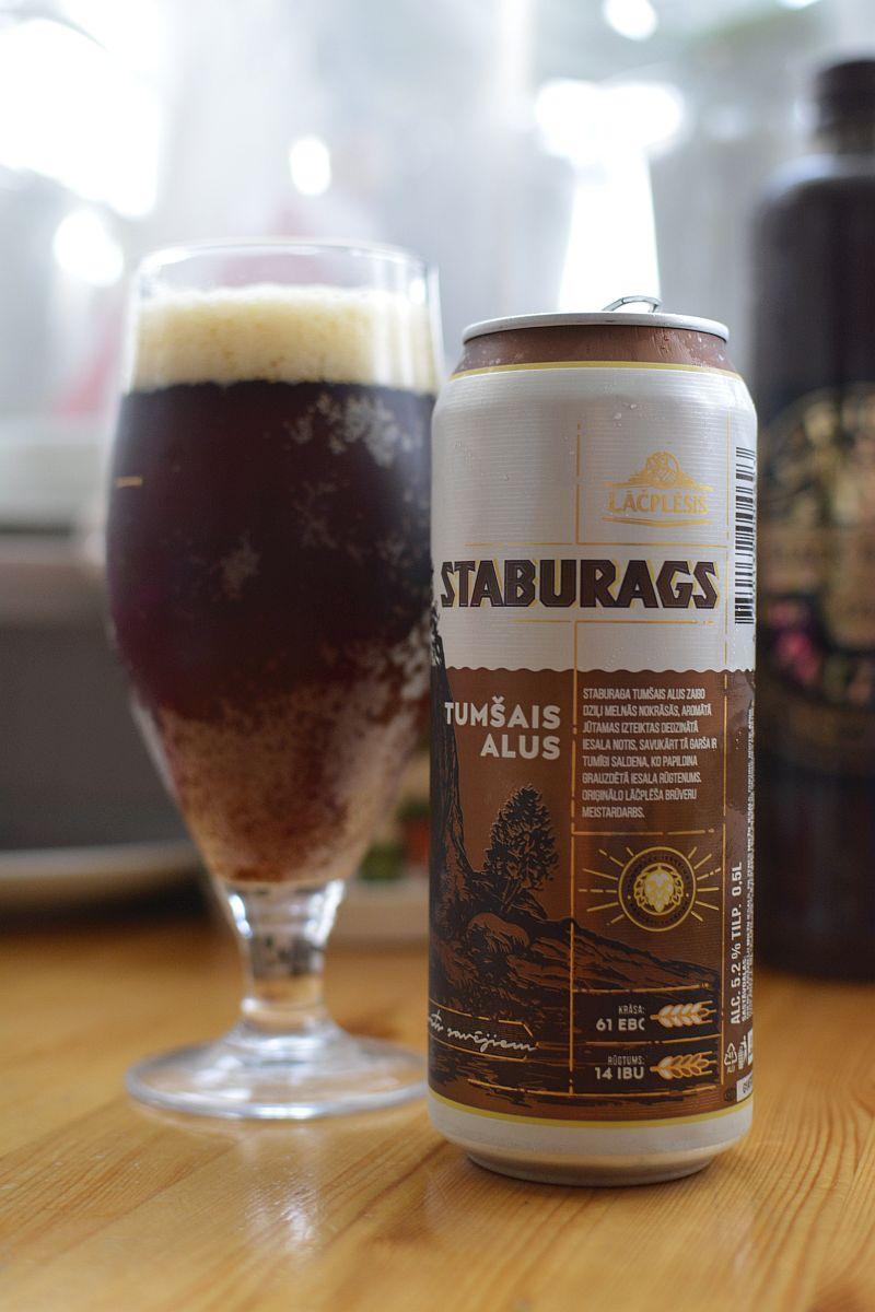 Пиво Staburags Tumšais