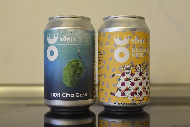 Пиво Milkshake Micro и DDH Citra Gose от Konix