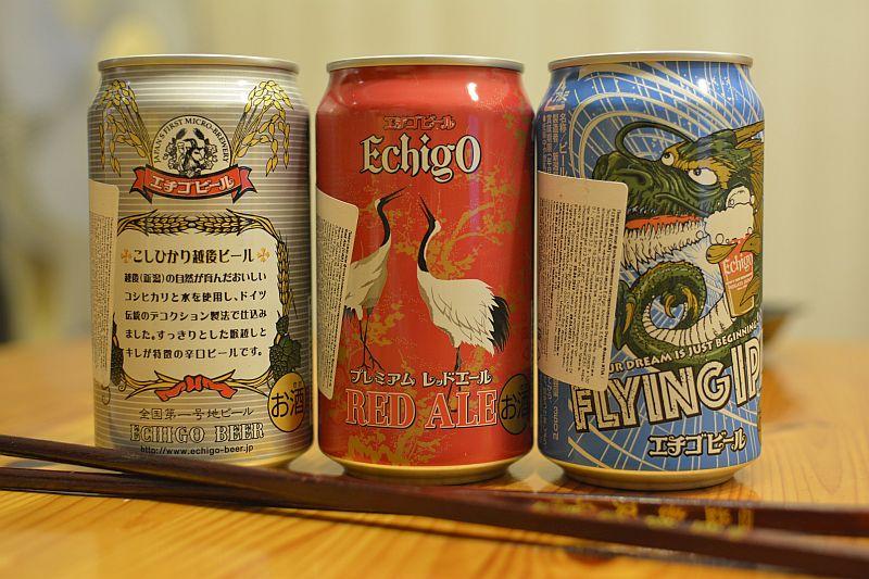 Японское пиво Echigo