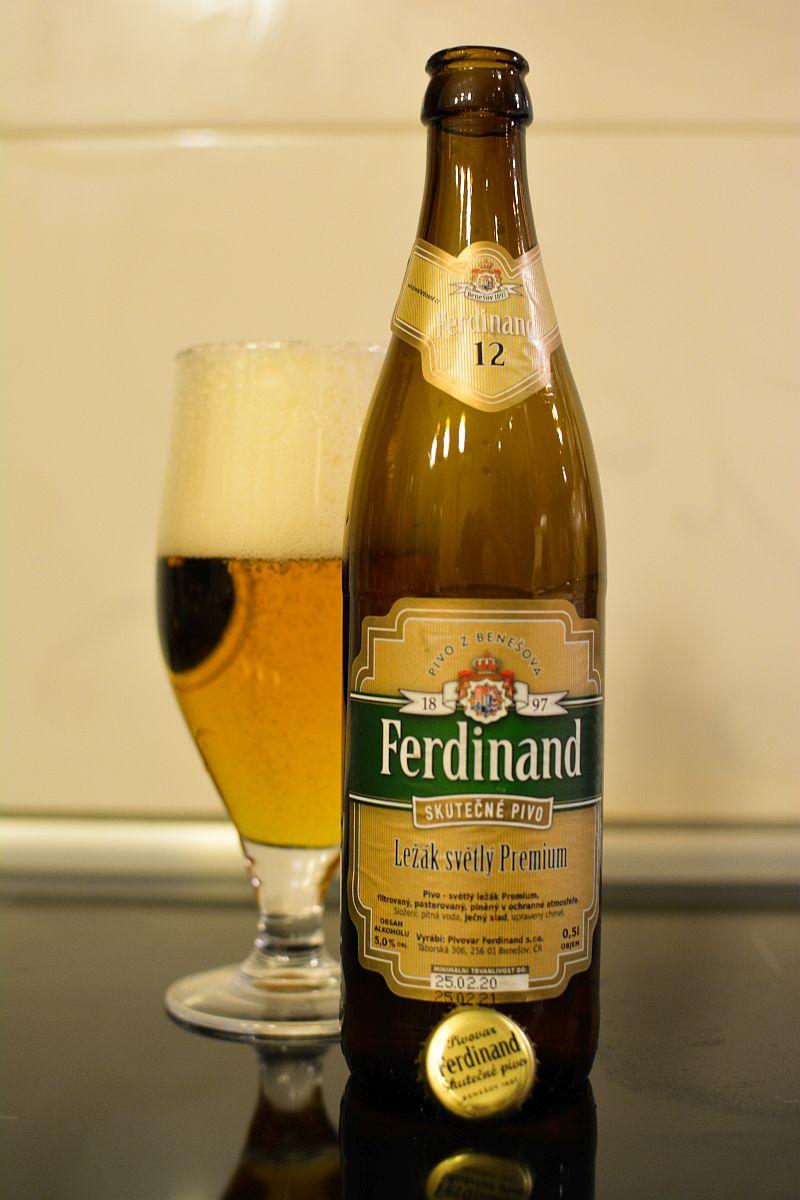 Пиво Ferdinand Světlý ležák Premium 12%