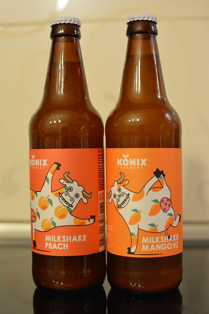 Пиво KONIX Milkshake Peach и Mango