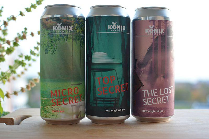 Пиво KONIX Top, Lost и Micro Secret