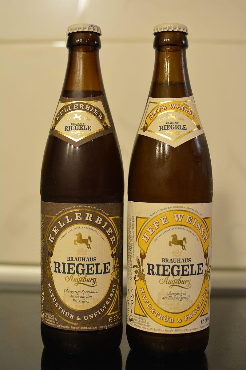 Пиво Riegele Kellerbier и Hefe Weisse