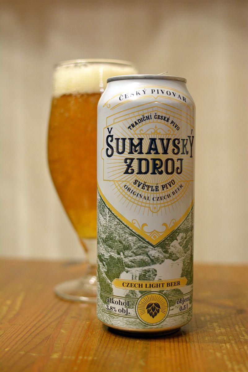 Пиво Šumavský Zdroj - лёгкий чешский лагер