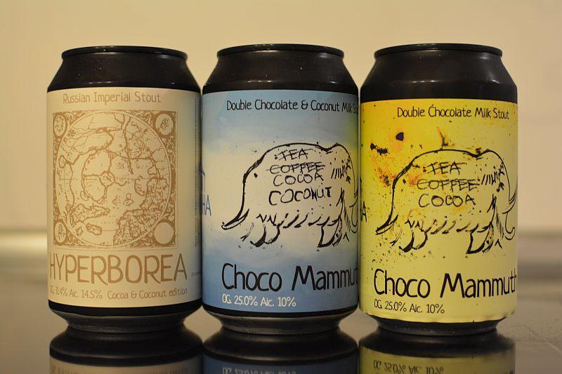 Пиво Choco Mammuth и Hyperborea Cocoa & Coconut Edition