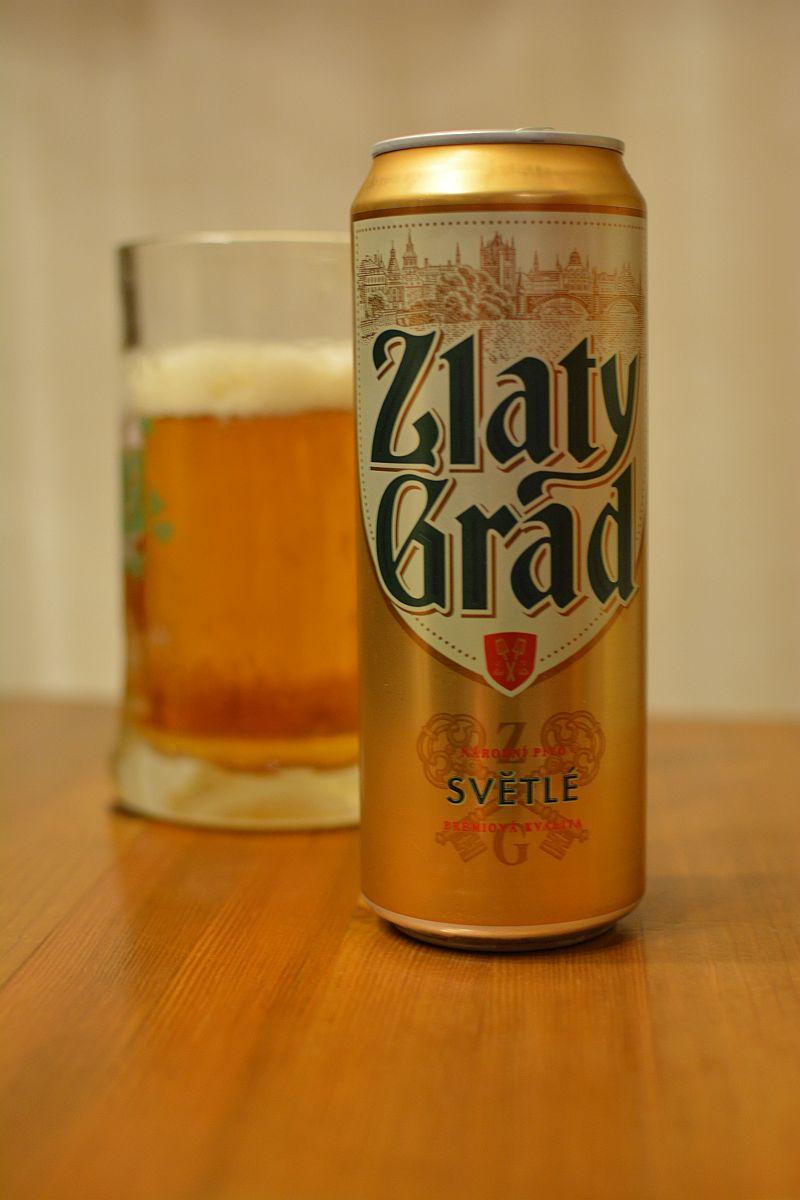 Пиво Zlaty Grad Světlé