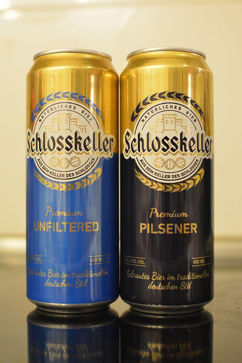 Пиво Schlosskeller Unfiltered и Pilsener