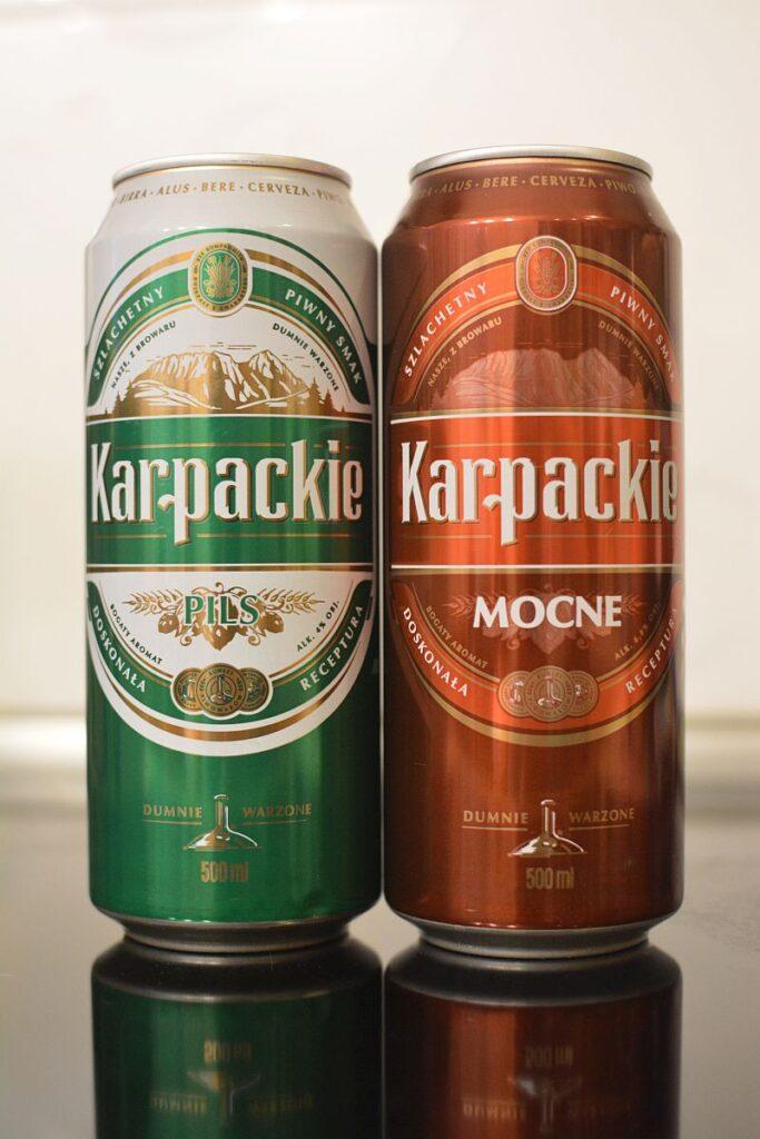 Пиво Karpackie Pils и Mocne