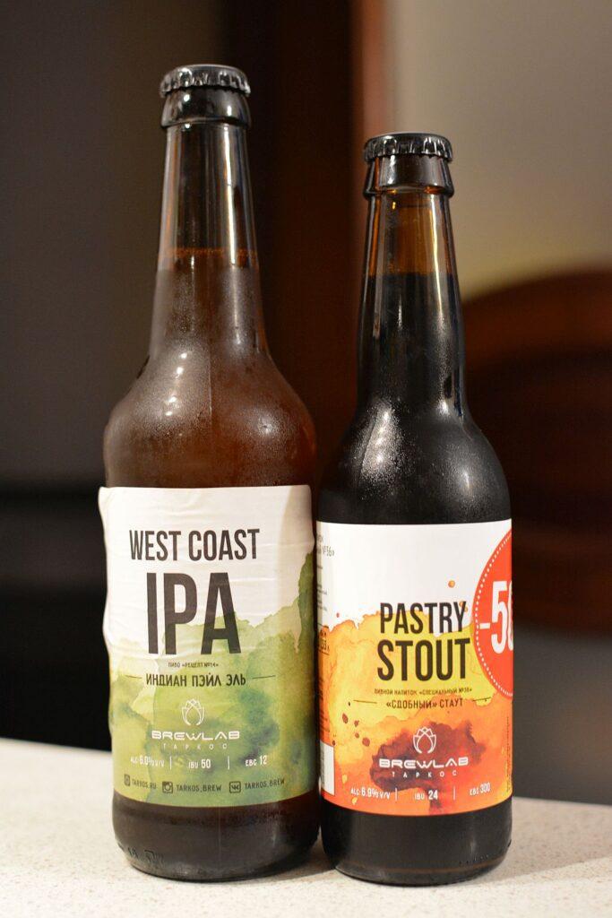 Пиво Brewlab West Coast IPA и Pastry Stout