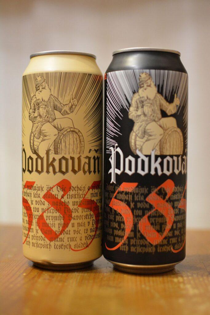 Пиво Podkováň Premium и Karamel 10