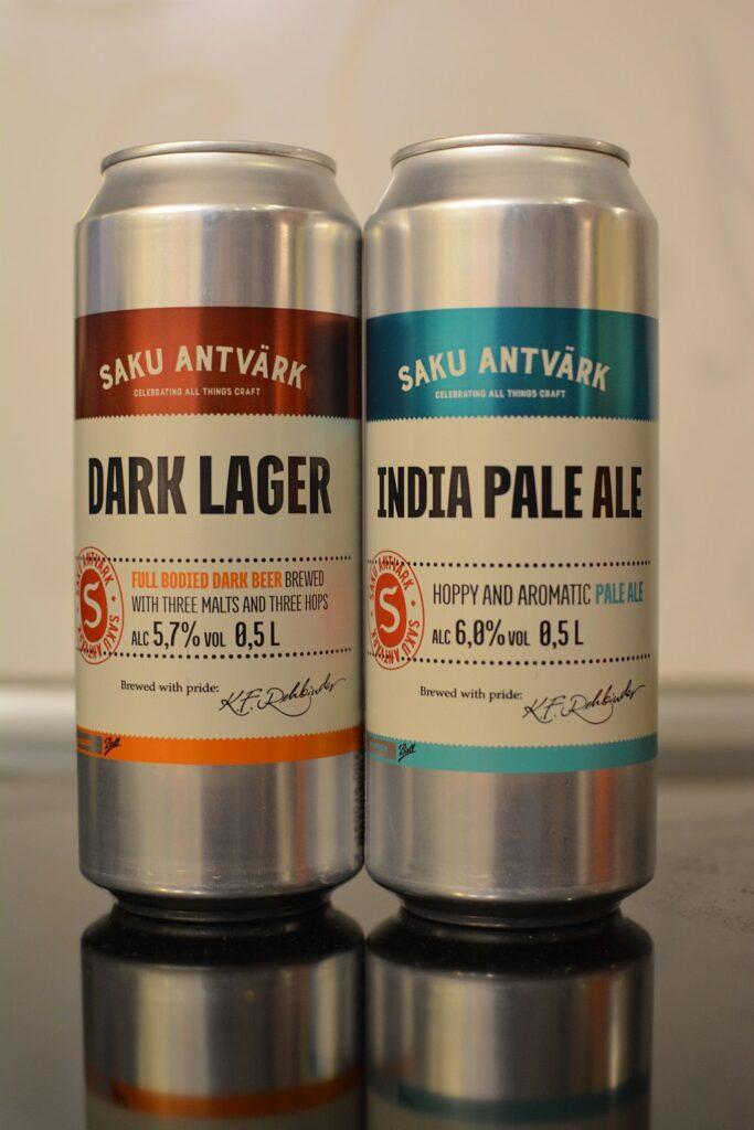 Пиво Saku Dark Lager и India Pale Ale
