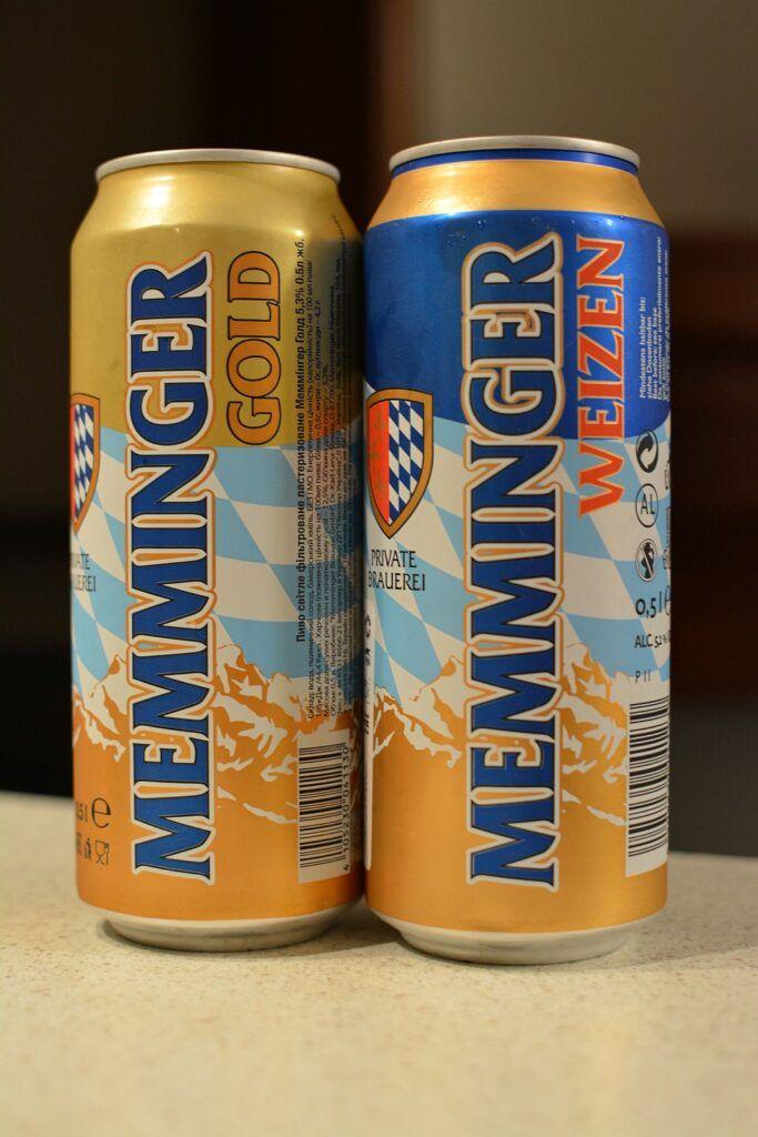 Пиво Memminger Gold и Weizen