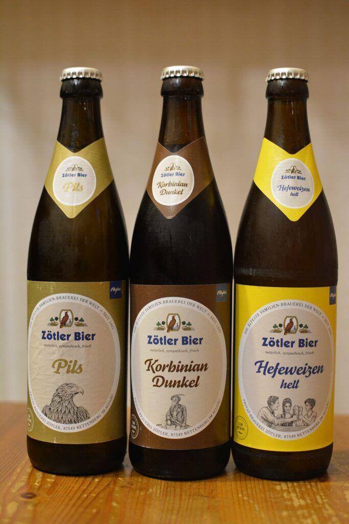 Пиво Zötler Pils, Dunkel и Hefeweizen Hell