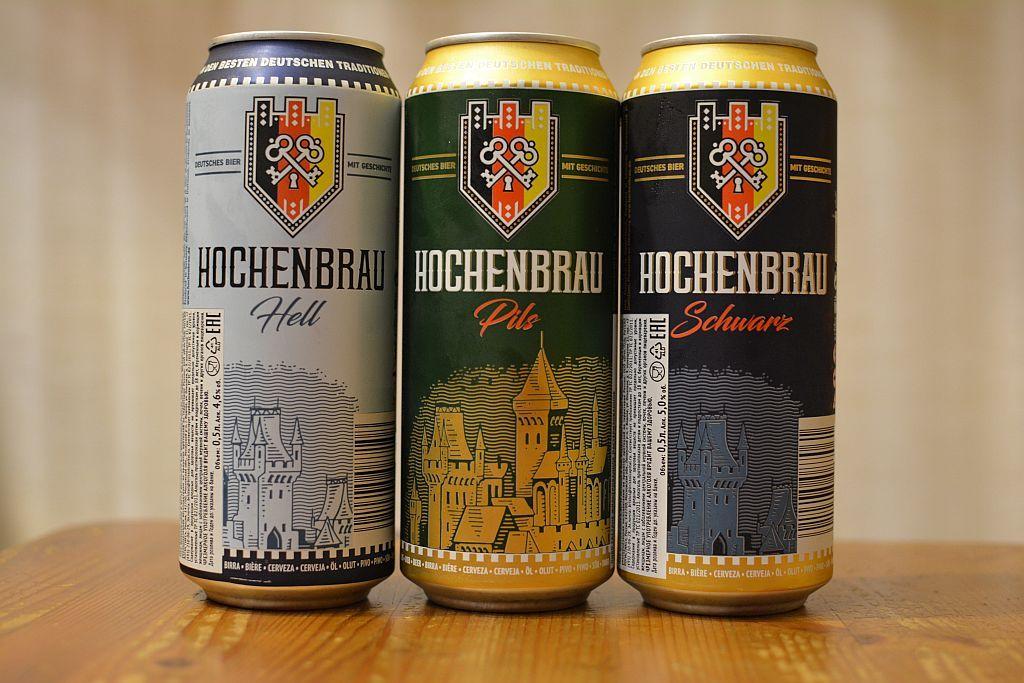 Hochenbrau Hell, Pils and Schwarz beer